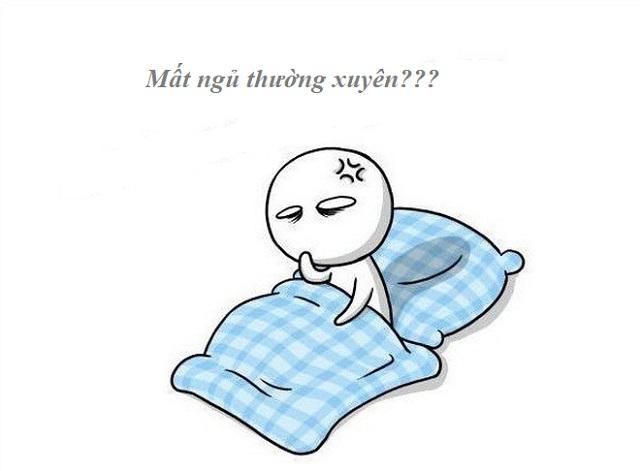 Thường xuyên khó ngủ hoặc mất ngủ 1