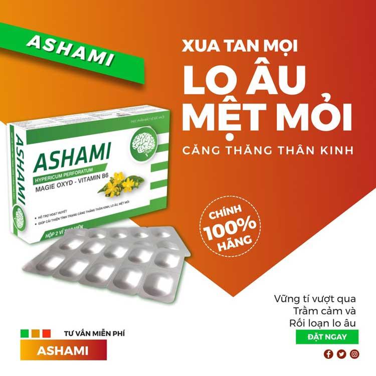 Sử dụng Ashami hỗ trợ điều trị lo âu trầm cảm 1